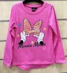 Disney Minnie Child T-Shirt Long Sleeve with Sequin 2-7 Year