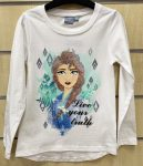 Disney Frozen Child T-Shirt Long Sleeve with Sequin 2-7 Year