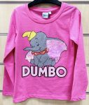 Disney Dumbo Child T-Shirt Long Sleeve with Sequin 2-7 Year