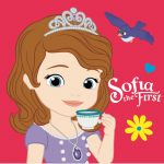 Disney Sofia Pillow, Cushion 35*35 cm