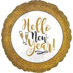 Happy New Year Foil Balloon 45 cm