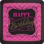 Happy Birthday Paper Plate (8 pieces) 17,8 cm