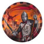 Knights, Paper Plate (8 pieces) 23 cm