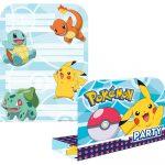 Pokémon Invitations and Envelopes (8 pieces)