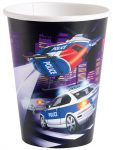 Police Paper Cup (8 pieces) 266 ml