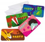 Animals Invitations and Envelopes (8 pieces)