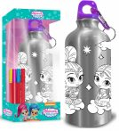 Shimmer and Shine Colorable Aluminium Bottle with Carbine 500 ml