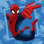 Spiderman Facetowel, handtowel 30*30 cm