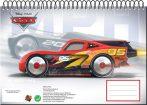 Disney Cars A/4 spiral sketchbook 30 sheets