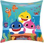 Baby Shark Pillow, Cushion 40*40 cm