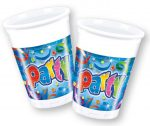 Party Streamers Cup Plastic (8 pieces) 200 ml