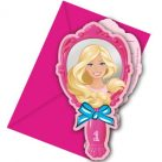 Barbie Magic Party Invitation Card (6 pieces)