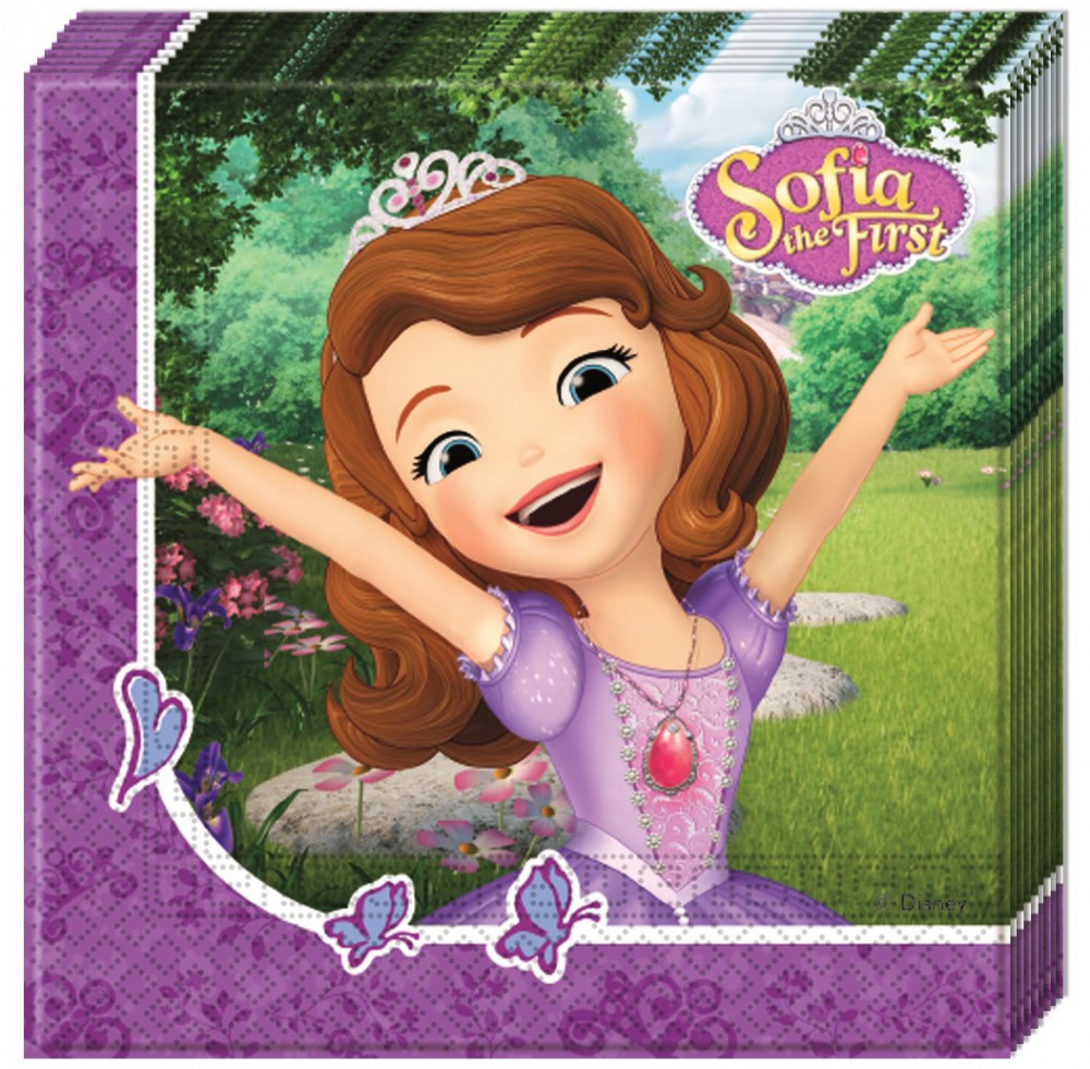 Disney Sofia Napkin (20 pieces) - Javoli Disney Licensed Online Store 1062c22af6