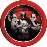 Star Wars-The Last Jedi, Paper Plate (8 pieces) 23 cm (Metallic)