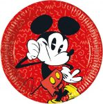 Disney Mickey Super Cool Paper Plate (8 pieces) 23 cm