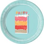 Birthday cake Paper Plate (8 pieces) 23 cm