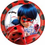 Miraculous Ladybug Eco-friendly, Compostable Paper Plate 8 pieces 23 cm