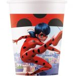 Miraculous Ladybug Eco-friendly, Compostable Paper Cup 8 pieces 200 ml