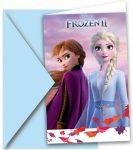 Disney Frozen II Party Invitation Card + Envelope (6 pieces)