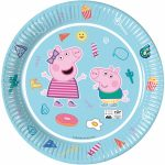 Peppa Pig Star Shine Eco-friendly, Compostable Paper Plate 8 pieces 23 cm