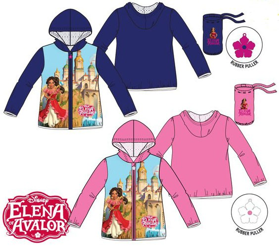 Elena of Avalor Light Weight Rain Jackets with Carry Pouch
