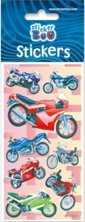 Motorbike Sticker with Silver Decoration