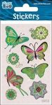 Butterfly Sticker with Silver Decoration