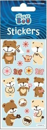 Bear Sticker with Silver Decoration